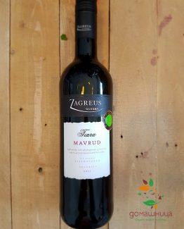мавруЧервено органично вино Тиара Мавруд 2015 0,75 Загрейд домашница