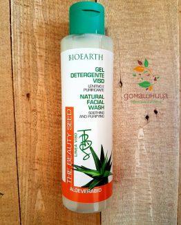 Измиващ гел за лице с 43% алое вера BioEarth