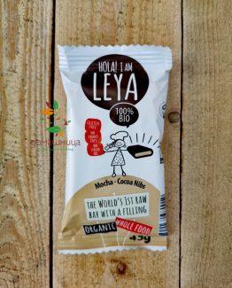 Сурово барче с пълнеж мока и какаови парченца био Leya