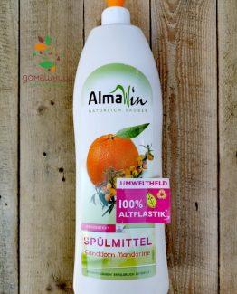 Препарат за ръчно миене на съдове с Мандарина био Almawin