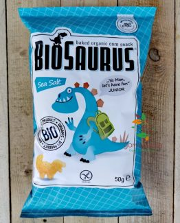 Печен царевичен снакс с морска сол био Bio Saurus