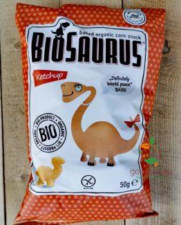 Печен царевичен снакс с вкус на кетчуп био BioSaurus