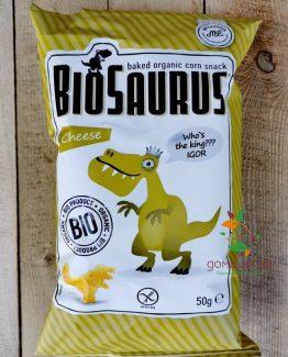 Детски снакс динозаври печен със сирене био 50гр BioSaurus