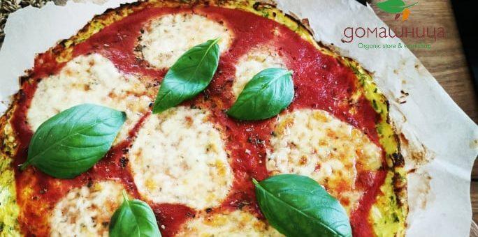Пица с блат от тиквички- бързо, лесно, вкусно и без глутен!