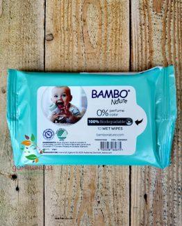 Биоразградими мокри кърпи Bambo