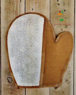 Ръкавица за баня с луфа Magnum Natural