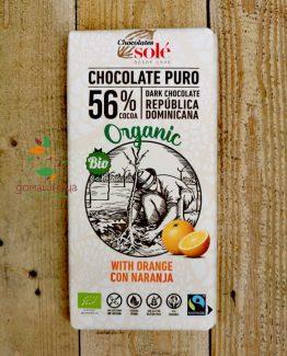 Натурален шоколад с портокал био Chocolates Sole