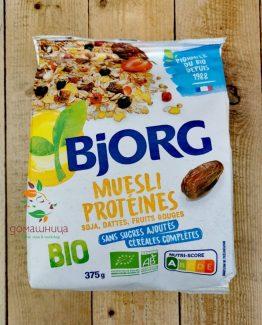 Протеиново мюсли без захар био 375гр Bjorg