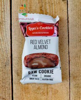 Сурово барче Red Velvet бадем био 25гр Leya's Cookies