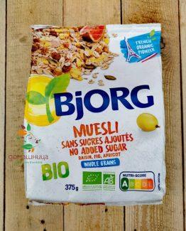 Мюсли без добавена захар био 375гр Bjorg