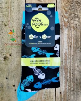 Чорапи органичен памук Рибки Happy Foottopia