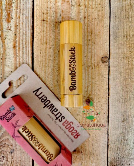 Балсам за устни Ягода 5гр BambooStick