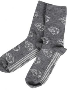 Чорапи от Мерино вълна цвят Grafit с овчици 1бр Primo Home